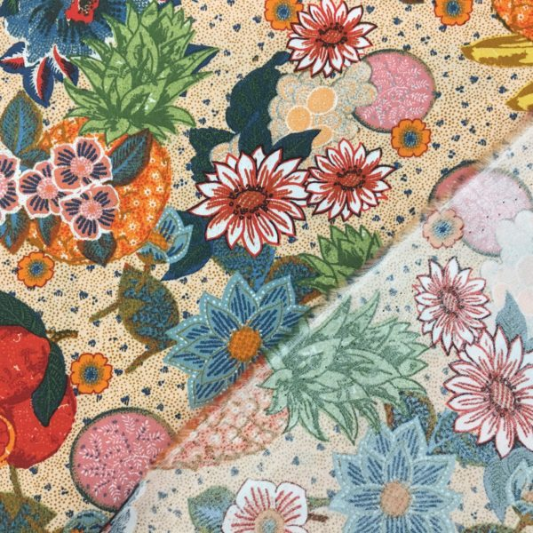 100% Cotton Lawn - Flowers and Fruits of the Sun
