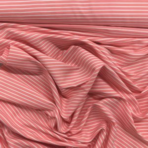 Lightweight 100% Cotton - Pink/White Stripes