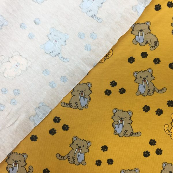Cotton Spandex Jersey – Saber Toothed Tigers - Sun Yellow