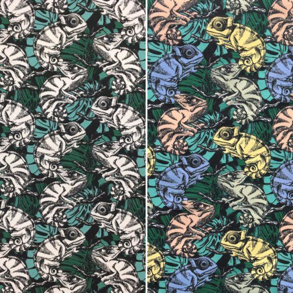 Light Reactive Jersey Fabric - Chameleons