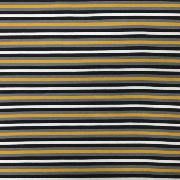 Stof of Denmark Avalana Jersey – Ochre Stripes