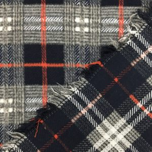Reversible Textured Check Woven Fabric