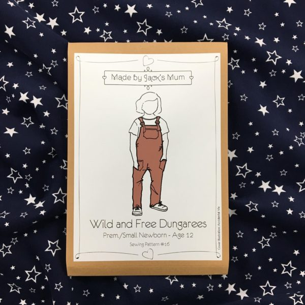Made By Jack's Mum Wild and Free Dungarees Sewing Pattern