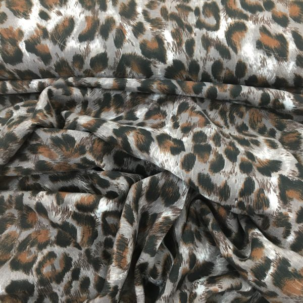 Lightweight 100% Viscose - Animal Fur Print