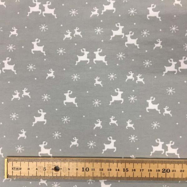 Stof of Denmark Avalana Jersey – Reindeer - Grey