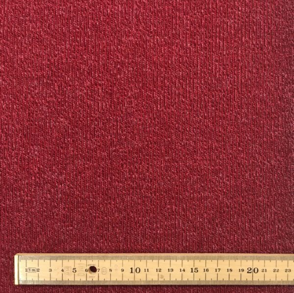 Super Soft Ribbed Stretch Knit Fabric - Raspberry