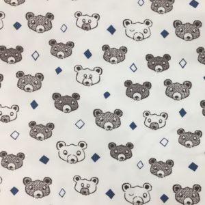 Stof of Denmark Avalana Loop-Back Sweatshirt Jersey - Diamond Bears