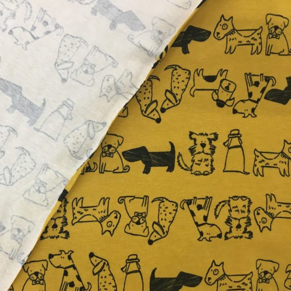 Stof of Denmark Avalana Jersey – Doggy Day Care - Ochre