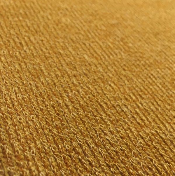 Super Soft Ribbed Stretch Knit Fabric - Ochre