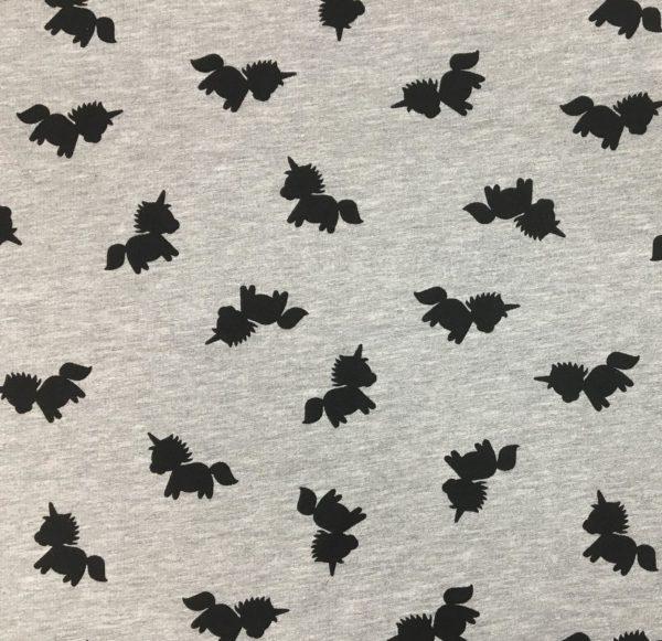 Stof of Denmark Avalana Sweatshirt Melange Jersey - Silhouetted Unicorns