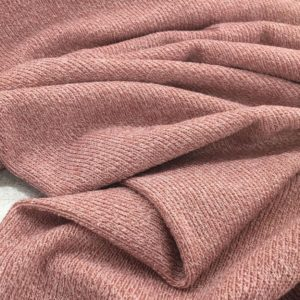 Super Soft Ribbed Stretch Knit Fabric - Rose