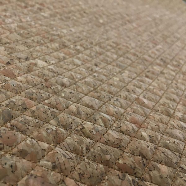 Quilted Cork Vinyl Fabric - Natural