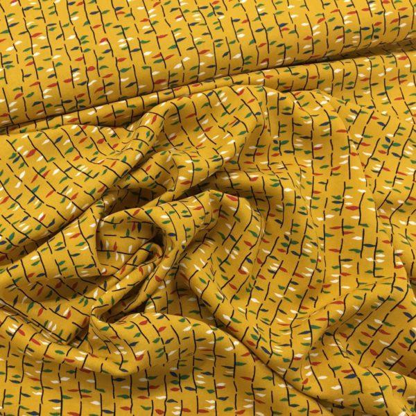 Lightweight Woven 100% Viscose - Last Leaves