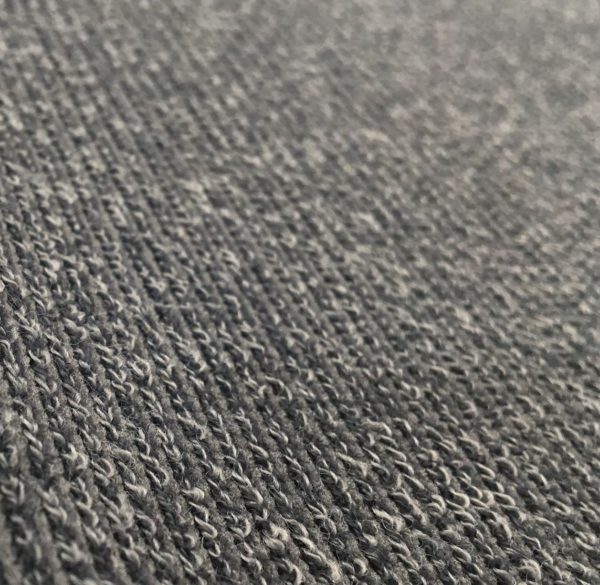 Super Soft Ribbed Stretch Knit Fabric - Silver