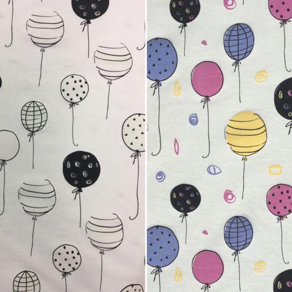 Light Reactive Jersey Fabric - Balloons