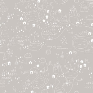Riley Blake 100% Cotton: Adventure Map Grey