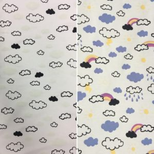 Light Reactive Jersey Fabric - Clouds