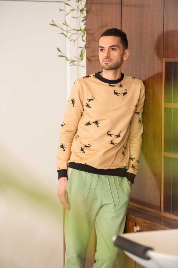 Chat Chocolat Organic French Terry Sweatshirting - Scorpions