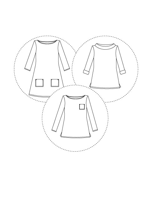 Tilly and the Buttons Coco Top + Dress Sewing Pattern