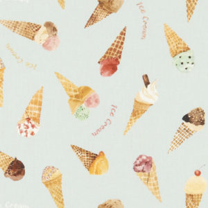 Studio G 100% Cotton Canvas - Village Life - Ice Cream Parlour
