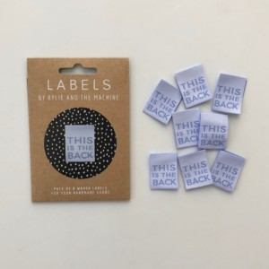 Pack of 8 Woven Sewing Labels by Kylie and the Machine - This Is The Back