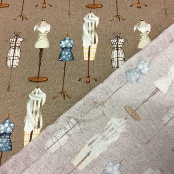 Viscose Stretch Knit - Dressmakers Dummy - Taupe