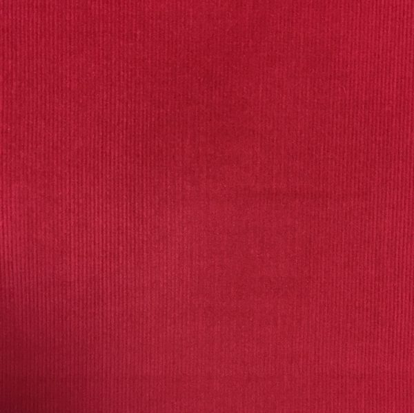 100% Cotton Babycord - Red