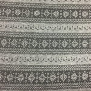 Mock Fairisle Double Knit Fabric - Grey/Black