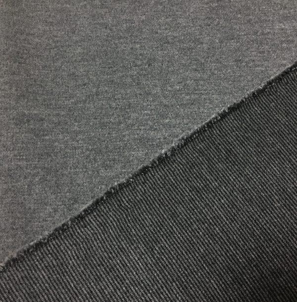 Double Sided Ponte Roma Heavy Jersey - Grey/Dark Grey