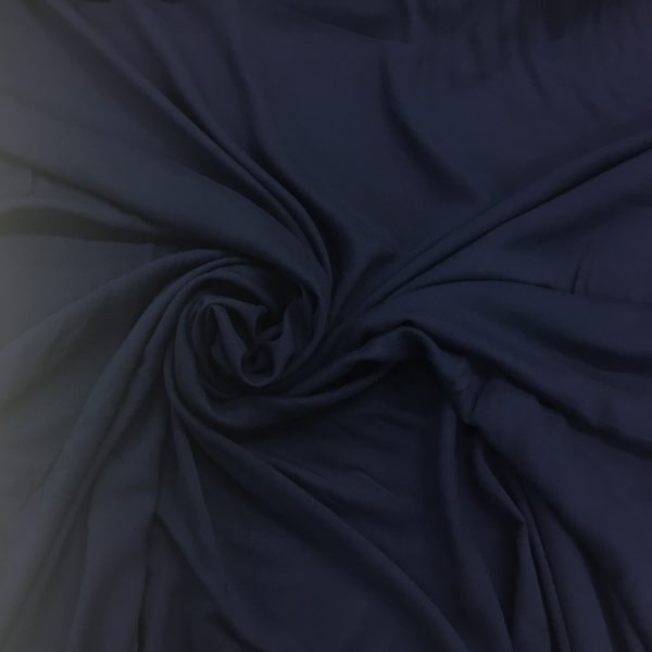 Plain Lightweight 100% Viscose - French Navy
