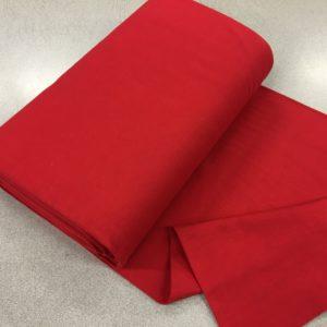 Tubular Jersey Rib/Cuffing - Red
