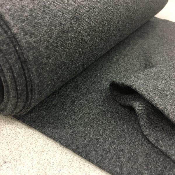Tubular Jersey Rib/Cuffing - Dark Grey