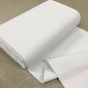 Tubular Jersey Rib/Cuffing - White