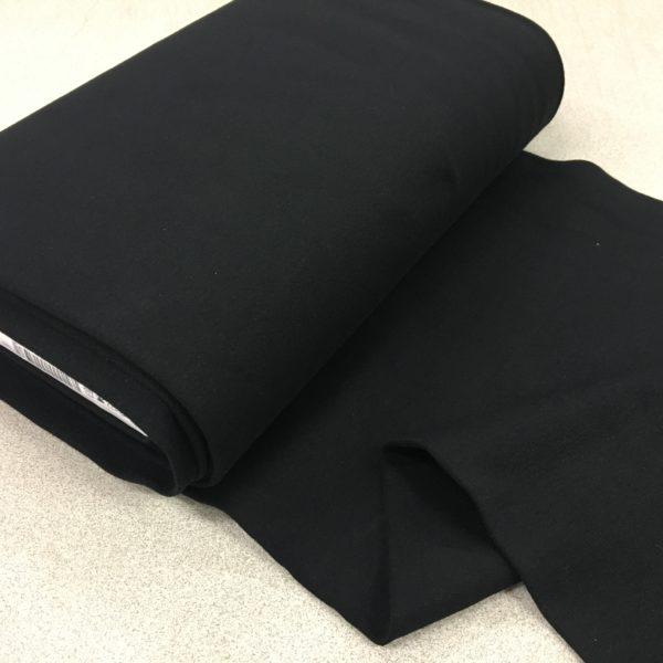 Tubular Jersey Rib/Cuffing - Black