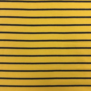 Yarn Dyed Striped French Terry Sweatshirting - Yellow/Navy