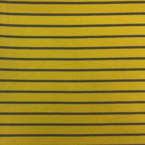 Yarn Dyed Striped French Terry Sweatshirting - Yellow/Grey