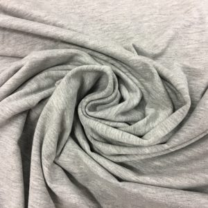Organic Cotton Spandex Jersey - Marl Grey