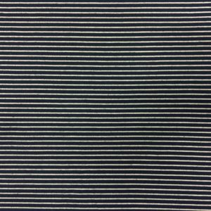 Lady McElroy Viscose/Spandex - Navy/White Nautical Stripe