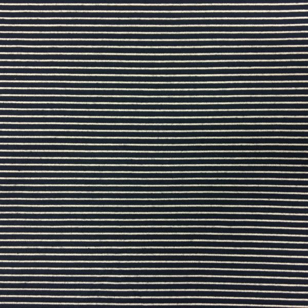Lady McElroy Viscose/Spandex - Navy/White Nautical Stripe