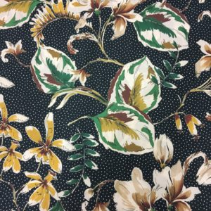 Lady McElroy 100% Cotton Lawn - Showering Vine - Old Gold