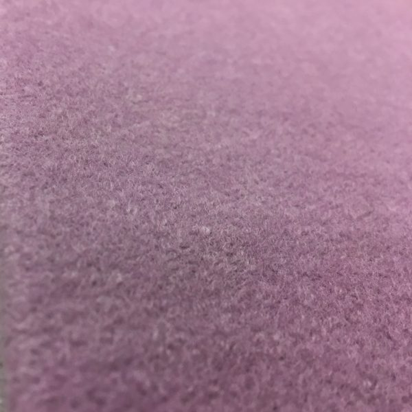 Boiled Wool Blend Fabric - Lilac