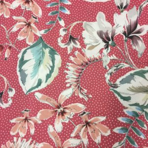 Lady McElroy 100% Cotton Lawn - Showering Vines - Salmon Pink