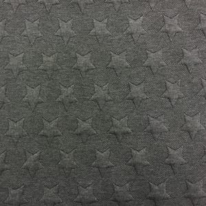 Quilted Cloqué Jersey - Star - Grey