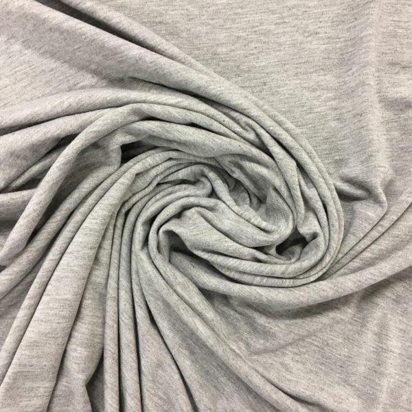 Viscose Spandex Jersey - Silver Grey Marl