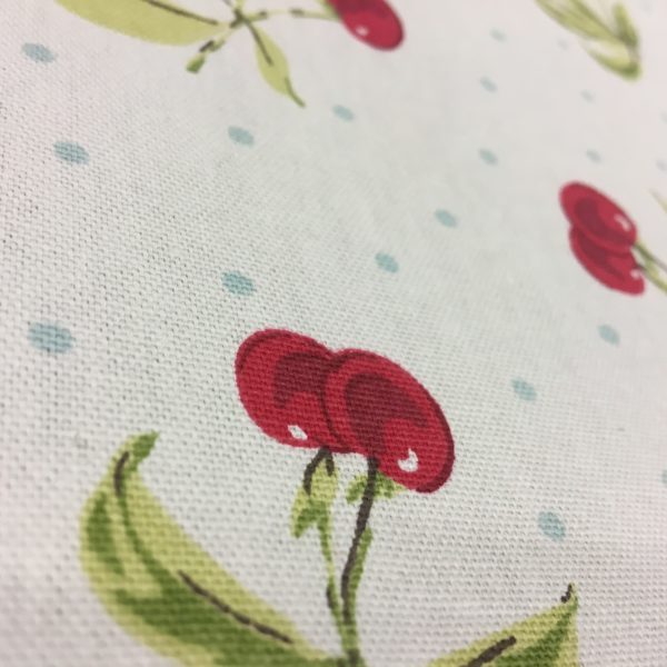 Studio G 100% Cotton Canvas - Cherries - White