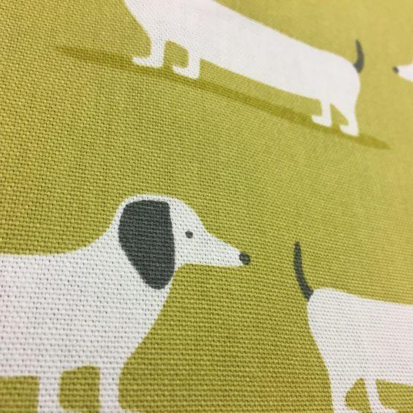 Fryetts Fabrics 100% Cotton Canvas - Hound Dogs - Ochre