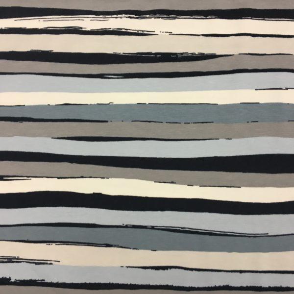 Stof of Denmark Avalana Jersey - Navy/Grey/Cream Irregular Stripe