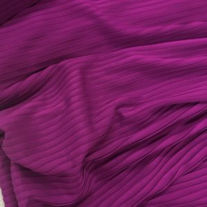 Deep Pin Tuck Fabric - Damson