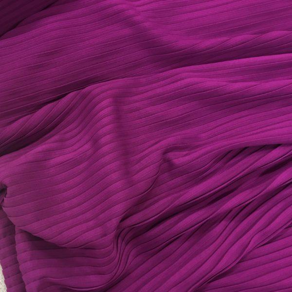 Deep Pin Tuck Fabric - Damson