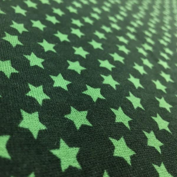 Fleece Back Sweatshirt Jersey - Stars - Green